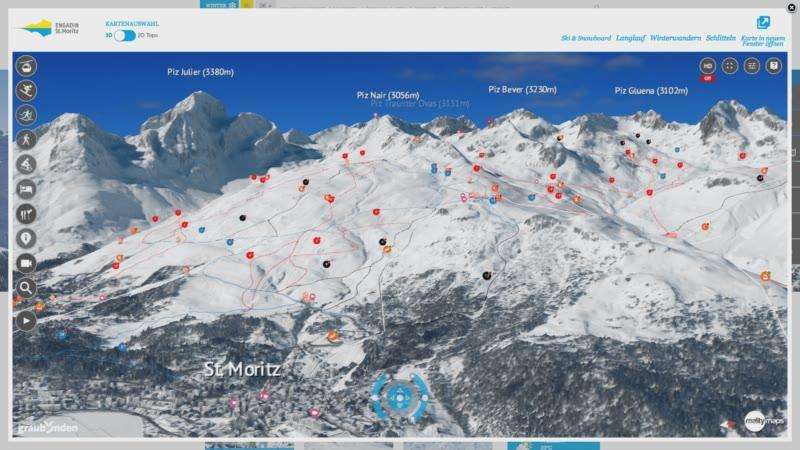 Die neue 3D Karte für das Engadin Winterversion