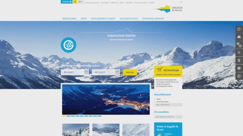 Die ESTM Startseite im Winter